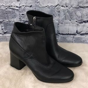 Via Spiga Black Heeled Booties